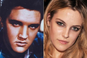 Elvis Presley (left); Elvis's granddaughter Riley Keough.
