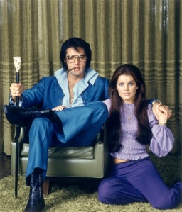 December 1969, Beverly Hills, California, USA --- American rock legend Elvis Presley with his wife Priscilla. --- Image by © Frank Carroll/Sygma/Corbis
